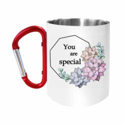 """Кружка с ручкой """"карабин"""" You are special"""