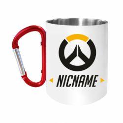 """Кружка с ручкой """"карабин"""" Your Nickname Overwatch"""