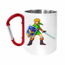 """Кружка с ручкой """"карабин"""" Zelda"""