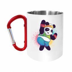 Кружка з ручкою-карабіном Zumba Panda