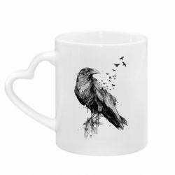 Кружка з ручкою у вигляді серця A pack of ravens