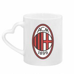 Кружка з ручкою у вигляді серця AC Milan