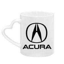 Кружка з ручкою у вигляді серця Acura logo 2
