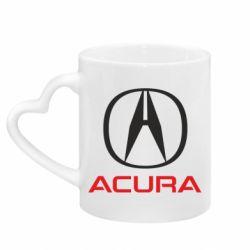 Кружка з ручкою у вигляді серця Acura