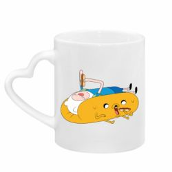 Кружка с ручкой в виде сердца Adventure time 4