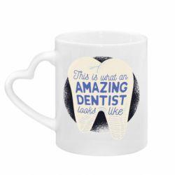 Кружка з ручкою у вигляді серця Amazing Dentist