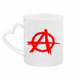 Кружка с ручкой в виде сердца Anarchy