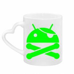Кружка с ручкой в виде сердца Android Pirate