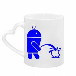 Кружка з ручкою у вигляді серця Android принижує Apple