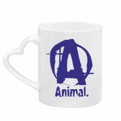 Кружка с ручкой в виде сердца Animal