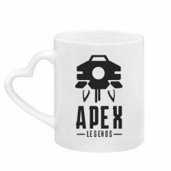 Кружка с ручкой в виде сердца Apex Legends symbol health
