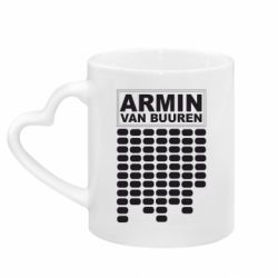 Кружка с ручкой в виде сердца Armin Van Buuren Trance