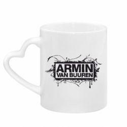 Кружка с ручкой в виде сердца Armin Van Buuren