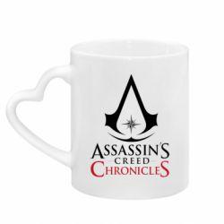 Кружка з ручкою у вигляді серця Assassin's creed ChronicleS