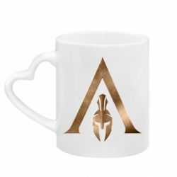 Кружка з ручкою у вигляді серця Assassin's Creed: Odyssey logo
