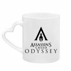 Кружка з ручкою у вигляді серця Assassin's Creed: Odyssey logotype