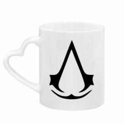 Кружка с ручкой в виде сердца Assassin's Creed