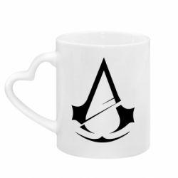 Кружка з ручкою у вигляді серця Assassins Creed Logo