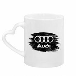 Кружка з ручкою у вигляді серця Ауді арт, Audi art