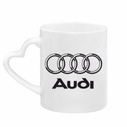 Кружка с ручкой в виде сердца Audi Big