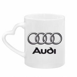 Кружка с ручкой в виде сердца Audi Small