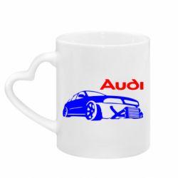 Кружка з ручкою у вигляді серця Audi Turbo