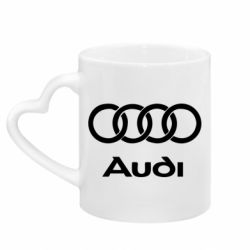 Кружка с ручкой в виде сердца Audi