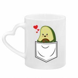 Кружка с ручкой в виде сердца Avocado in your pocket