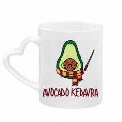 Кружка з ручкою у вигляді серця Avocado kedavra