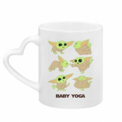 Кружка с ручкой в виде сердца Baby Yoga