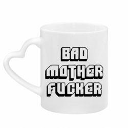Кружка с ручкой в виде сердца Bad Mother F*cker