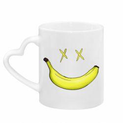 Кружка с ручкой в виде сердца Banana smile