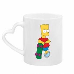 Кружка з ручкою у вигляді серця Bart Simpson