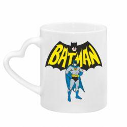 Кружка с ручкой в виде сердца Batman Hero