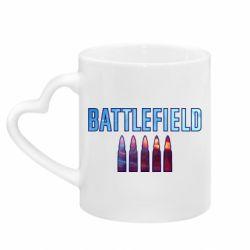 Кружка з ручкою у вигляді серця Battlefield 5 bullets