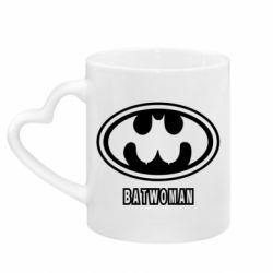 Кружка з ручкою у вигляді серця Batwoman