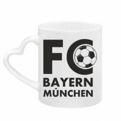 Кружка з ручкою у вигляді серця Баварія Мюнхен