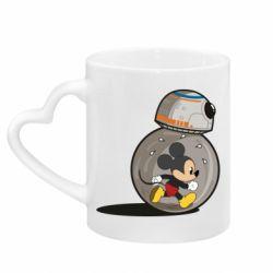 Кружка с ручкой в виде сердца BB-8 and Mickey Mouse