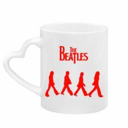 Кружка з ручкою у вигляді серця Beatles Group