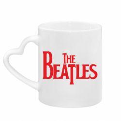 Кружка з ручкою у вигляді серця Beatles