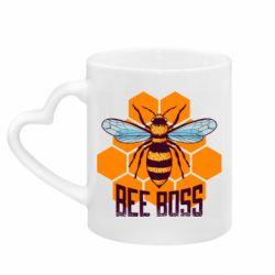 Кружка с ручкой в виде сердца Bee Boss