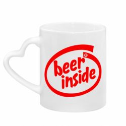 Кружка с ручкой в виде сердца Beer Inside