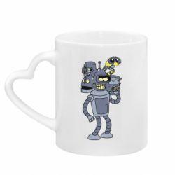 Кружка з ручкою у вигляді серця Bender and the heads of robots
