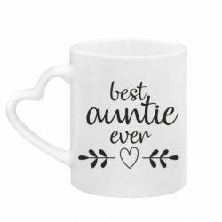 Кружка з ручкою у вигляді серця Best auntie ever