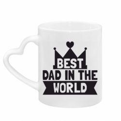 Кружка с ручкой в виде сердца Best dad in the world