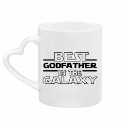 Кружка з ручкою у вигляді серця Best godfather in the galaxy