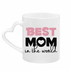 Кружка з ручкою у вигляді серця Best mom