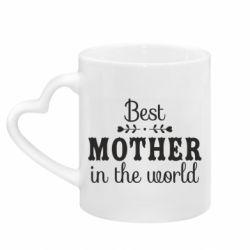 Кружка з ручкою у вигляді серця Best mother in the world