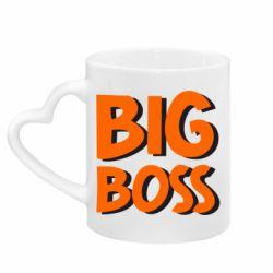 Кружка с ручкой в виде сердца Big Boss
