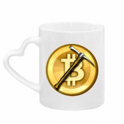 Кружка з ручкою у вигляді серця Bitcoin Hammer